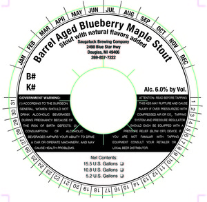 Saugatuck Brewing Company Barrel Aged Blueberry Maple Stout