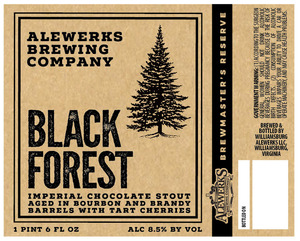 Alewerks Brewing Company Black Forest