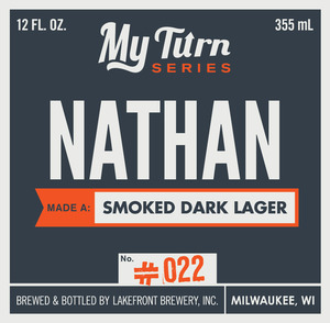 Lakefront Brewery Nathan Made A Smoked Dark Lager