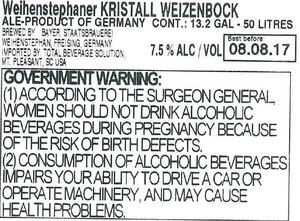 Weihenstephan Kristall Weizenbock