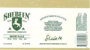 Shebeen Brewing Company Irish Pale