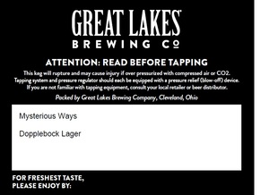 Great Lakes Brewing Co. Mysterious Ways