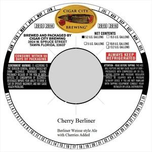 Cigar City Brewing Cherry Berliner