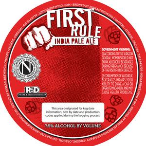 Ninkasi Brewery, LLC First Rule