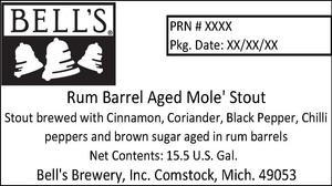 Bell's Rum Barrel Aged Mole' Stout