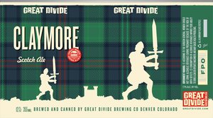 Great Divide Brewing Company Claymore Scotch Ale