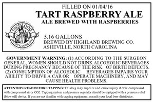Highland Brewing Co. Tart Raspberry Ale