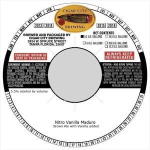 Vanilla Maduro Brown Ale With Vanilla