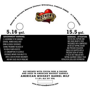 Mother's Brewing Company American Whiskey Barrel Milf