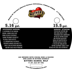 Mother's Brewing Company Bitters Barrel Milf