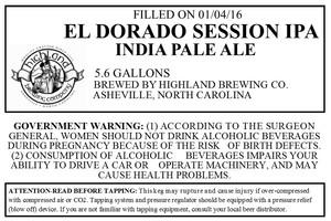 Highland Brewing Co. El Dorado Session IPA