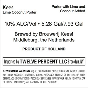Kees Lime Coconut Porter