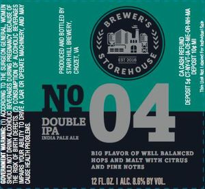 Starr Hill No. 4 Double IPA