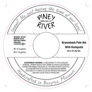 Piney River Brewing Co. Bronzeback