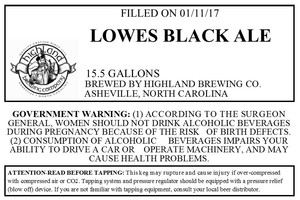Highland Brewing Co. Lowes Black Ale