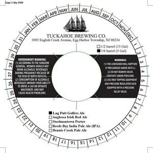 Tuckahoe Brewing Company Lag Putt Golfers Ale