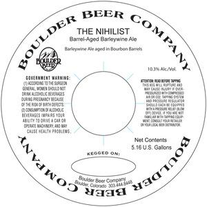 The Nihilist Barrel-aged Barleywine Ale