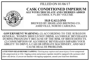 Highland Brewing Co. Cask Conditioned Imperium