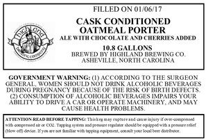 Highland Brewing Co. Cask Conditioned Oatmeal Porter
