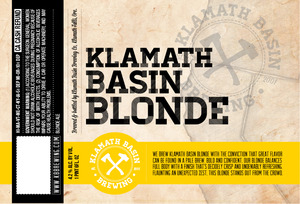 Klamath Basin Brewing Co. Klamath Basin Blonde