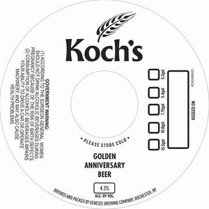 Koch's Golden Anniversary Beer