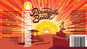 Image result for funky buddha pineapple beach label