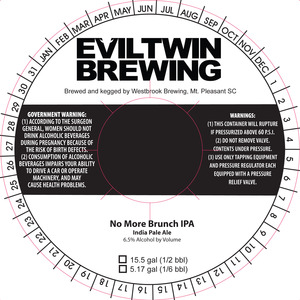 Evil Twin Brewing No More Brunch IPA
