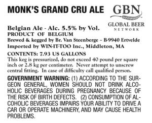 Monk's Grand Cru