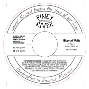 Piney River Brewing Co. Missouri Waltz
