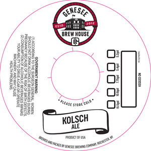 Genesee Brew House Kolsch Ale