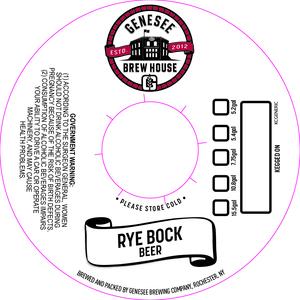 Genesee Brew House Rye Bock Beer