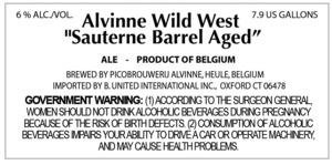 Alvinne Wild West Sauternes Barrel Aged