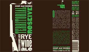 Territorial Reserve Rye Wine Ale