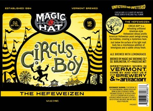 Magic Hat Circus Boy The Hefeweizen February 2017