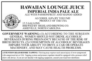 Highland Brewing Co. Hawaiian Lounge Juice