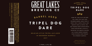 Great Lakes Brewing Co. Barrel Aged Tripel Dog Dare