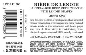 Jester King BiÈre De Lenoir