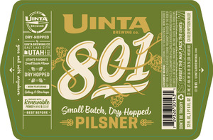 Uinta Brewing Company 801 - Dry Hopped
