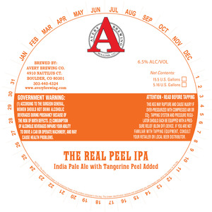 Avery Brewing Co. The Real Peel IPA
