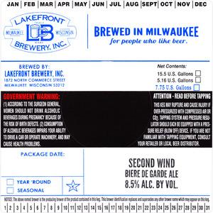 Lakefront Brewery Second Wind Biere De Garde