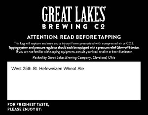 Great Lakes Brewing Co. West 25th St. Hefeweizen Wheat