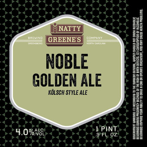 Natty Greene's Brewing Co. Noble Golden Ale