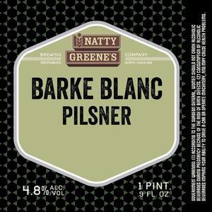 Natty Greene's Brewing Co. Barke Blanc Pilsner