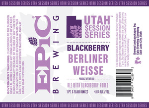 Epic Brewing Company Blackberry Berliner Weisse