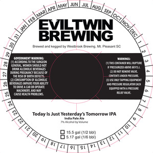 Evil Twin Brewing Today Is Just Yesterday's Tomorrow IPAs