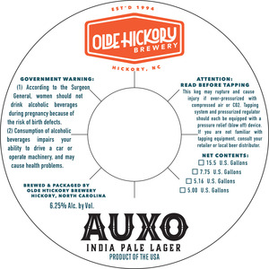 Olde Hickory Brewery Auxo