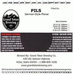 Grand Teton Brewing Company Pils