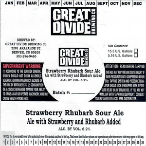 Great Divide Brewing Company Strawberry Rhubarb Sour Ale
