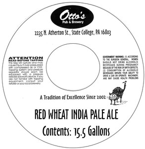 Otto's Pub And Brewery Red Wheat India Pale Ale