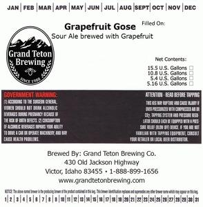 Grand Teton Brewing Company Grapefruit Gose